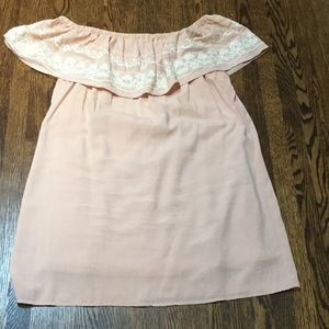 Pink off the shoulders swing dress